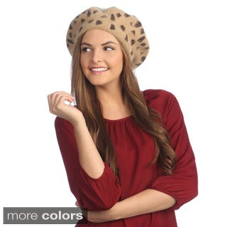 KC Signatures Animal Print Beret