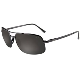 Xezo Men's 'Air Commando' Grey Metallic Titanium Polarized Sunglasses
