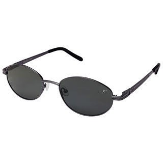 Xezo Men's 'Submariner' Black Chrome Titanium Polarized Sunglasses