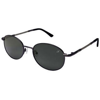 Xezo 'Mustang' Titanium and Cable Steel Vintage Polarized Sunglasses