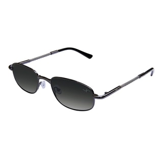 Xezo Men's 'Nighthawk' Titanium and Cable Steel Polarized Sport Sunglasses