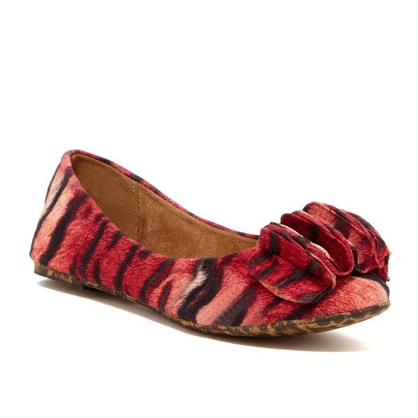 Nicole Simpson Women's Animal Print Ballerina Shoes