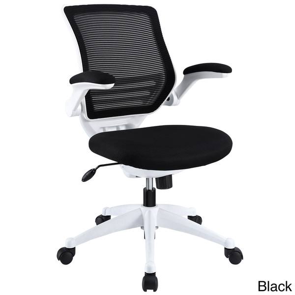 modway white frame mesh seat edge office chair 15955325 overstock
