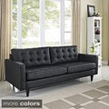 Empress Tufted Bonded Leather Sofa