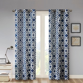 Porch & Den Manhed Geometric Print Curtain Panel