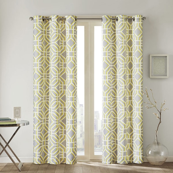 Intelligent Design Alana Geometric Print Curtain Panel Overstock Shopping Great Deals On Id