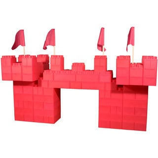 Kids Adventure 104-piece Jumbo Blocks Pink Princess Castle Play House