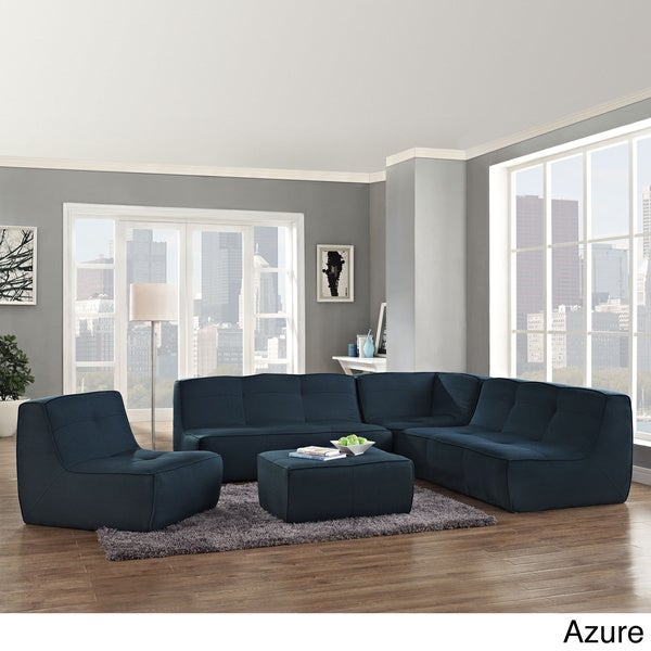 Align Azure Upholstered Sectional Sofa Set
