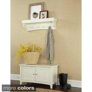 Fair Haven Tray Shelf Coat Hook and Storage Bench Set
