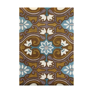 Alliyah Hand-tufted Sudan Brown Wool Rug (8' x 10')