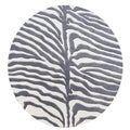 Alliyah Handmade Safari Grey Wool Rug (8' Round)