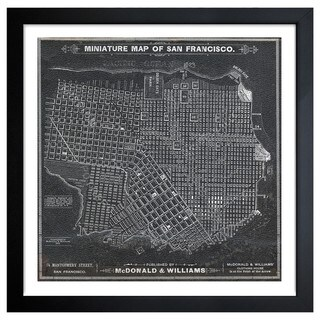 Oliver Gal 'San Francisco Map 1879' Framed Print Art