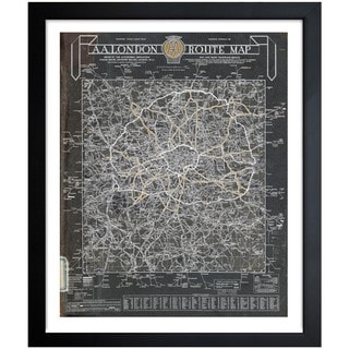 Oliver Gal 'London Automobile Route Map 1960' Framed Print Art