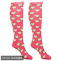Julietta Women's 'Estee' Heart Print Knee-high Socks