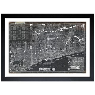 Oliver Gal 'Chicago Rapid Transit Lines 1926' Framed Print Art