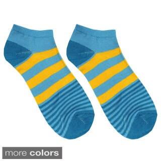 Julietta Women's 'Lanni' Wide and Narrow Striped Ankle Socks