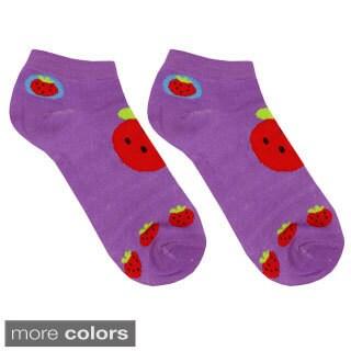 Julietta Women's 'Maggie' Striped and Fruit Ankle Socks