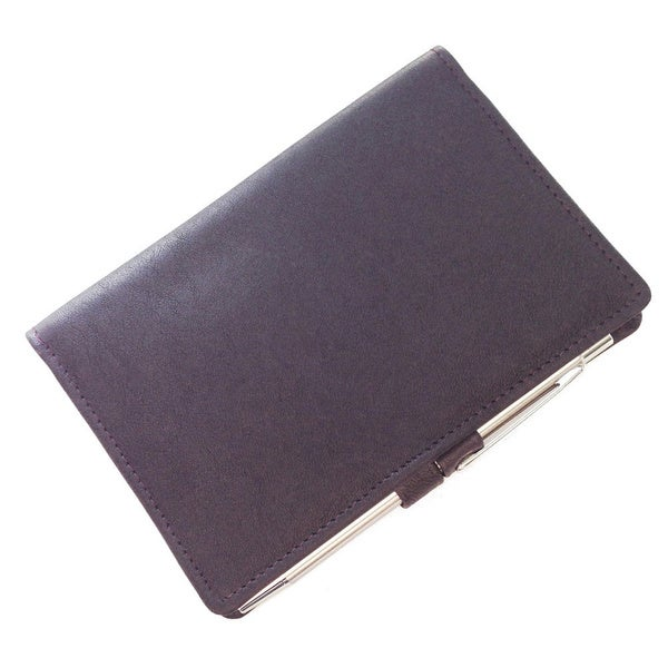 Mini Leather Bi-fold Notepad