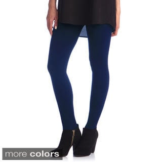 Women's Slim Fit Solid Leggings (One size)