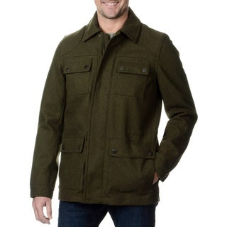Fleet Street Men's Military Style Water-resistant Coat
