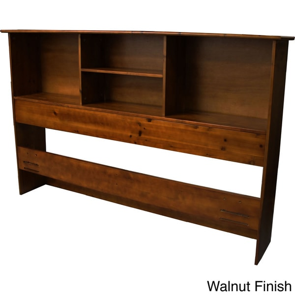 Scandinavia Solid Bamboo Wood Bookcase Headboard Free Shipping Today