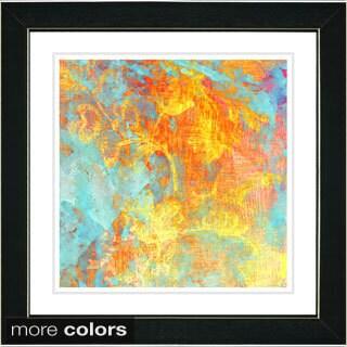 Zhee Singer 'Orange Mint Liara' Framed Fine Art Print