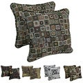 Blazing Needles Corded Contemporary Print Tapestry Pillows and Removable Insert (Set of 2)