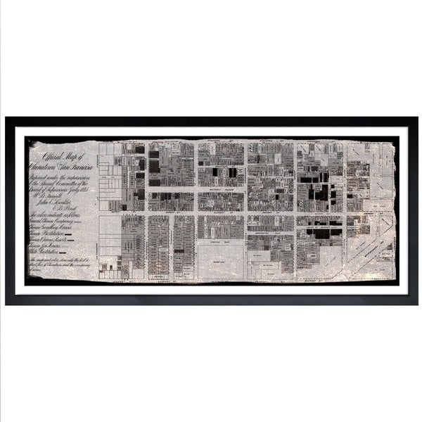 Oliver Gal 'Chinatown 1885' Framed Art