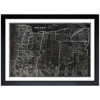 Oliver Gal 'Map of Oregon 1866' Framed Art