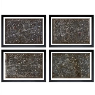Oliver Gal 'Celestial Map XVI Century - 4 Panels' Framed Art