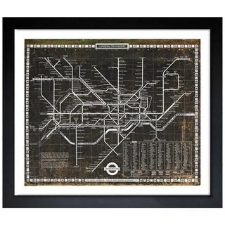 Oliver Gal 'London Tube 1972' Framed Art