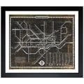 Oliver Gal 'London Tube 1972' Framed Art