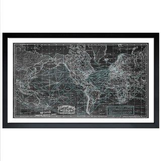 Oliver Gal 'Steamship Routes of the World' Framed Art