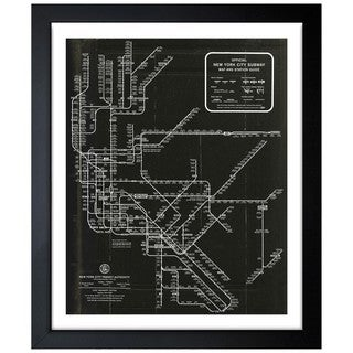 Oliver Gal 'New York Subway Map 1958' Framed Art