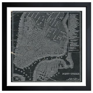 Oliver Gal 'New York Map 1946' Framed Art