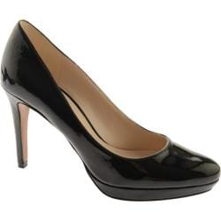 Women's Nine West Beautie 23 Black Lux Patent Polyurethane