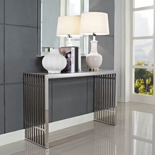 Stainless Steel Modern Gridiron Console Table