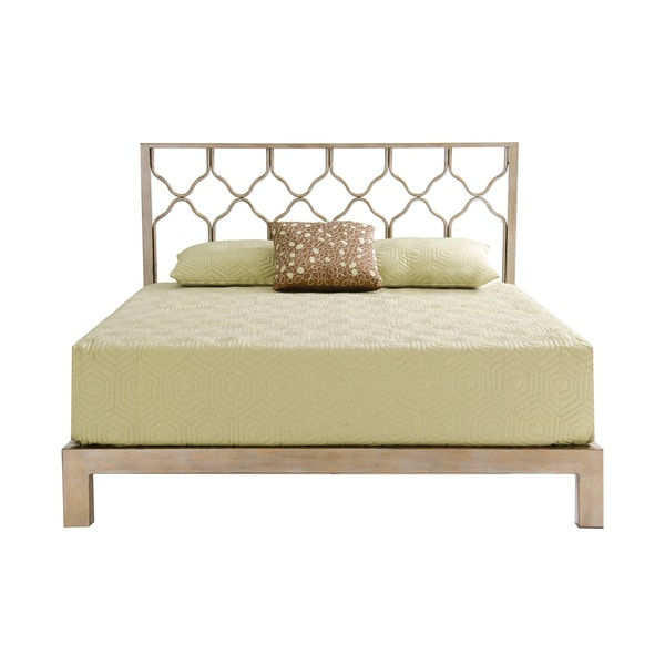 Metal Bed Headboard : Honeycomb Gold Metal Headboard and Aura Gold Platform Bed - 15957933 ...