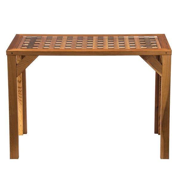 Western Red Cedar Lattice-top Buffet Table