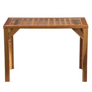 Western Red Cedar Lattice-top Buffet Table