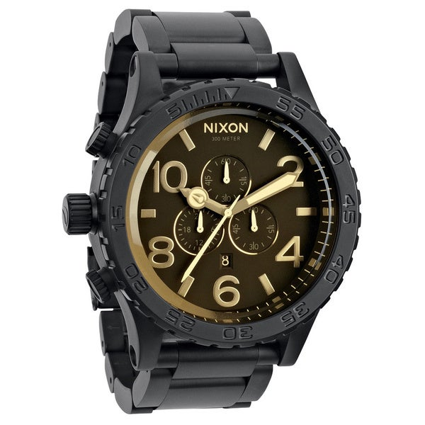 Nixon Men's 51-30 Chrono Matte Black Watch