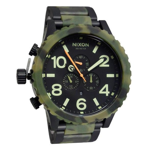 Nixon Men's 51-30 Chrono Matte Black and Camo Watch