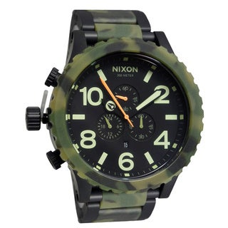 Nixon Men's 51-30 Chrono Matte Black and Camo Watch