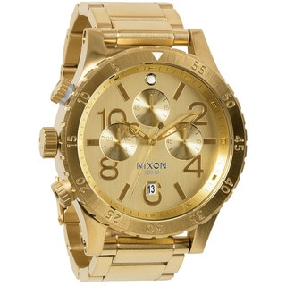 Nixon Men's 48-20 Gold Chronograph Watch