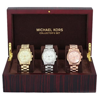 Michael Kors Women's MK5683 Midsize Runway Collection Multicolor Watch Set