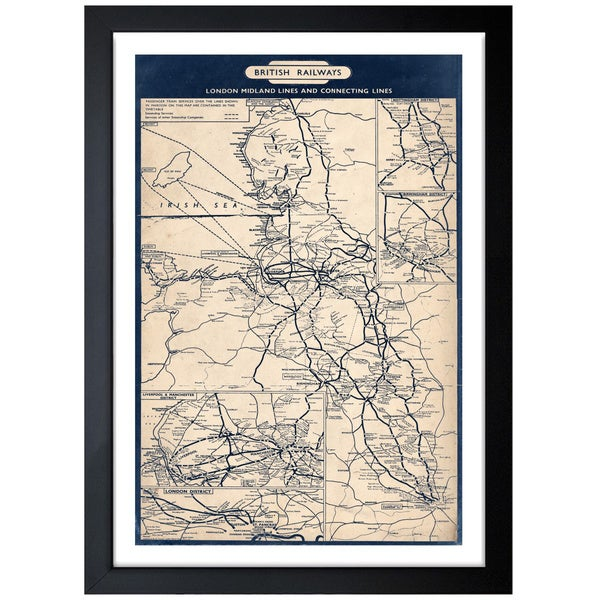 Oliver Gal Artist Co. 'British Railways Map 1961' Framed Art Print