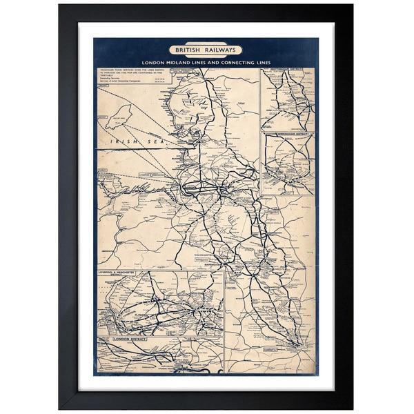 Oliver Gal Artist Co. 'British Railways Map 1961' Framed Art Print