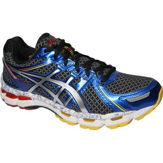 Asics Men's 'Kayano 19' Black Lightning Running Shoes