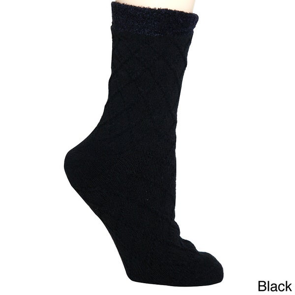 Everyday People Women's Shea Butter Infused Double Layer Socks