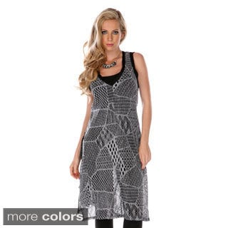 Women's Mesh Patchwork Sheer Dress